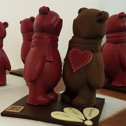 Nounours en chocolat amoureux