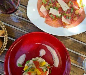 Repas à la Terrasse du Mimosa à Montpeyroux