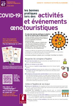Activités et évènements oenotouristiques Covid-19 -Les vigenrons Indépendants de France