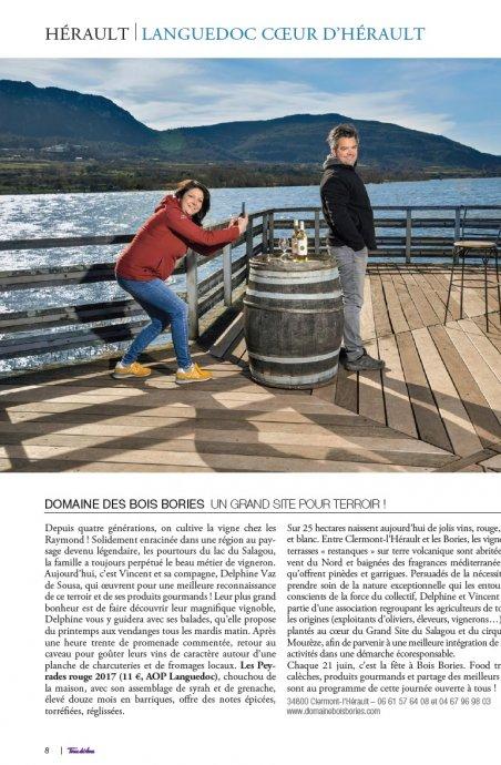 Domaine Bois Bories dans Terre de Vins spécial Languedoc, Coeur d'Hérault