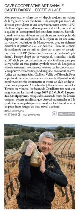 Interview Terre de Vin bernard Palissé, Castelbarry Montpeyroux