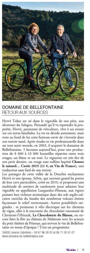 Interview Terre de Vins : Hervé Taber, Domaine de Bellefontaine à Lieuran-Cabrières