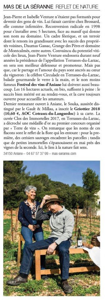Interview Terre de Vins, Mas de la Séranne à Aniane