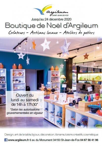 Boutique de Noël Argileum 2020