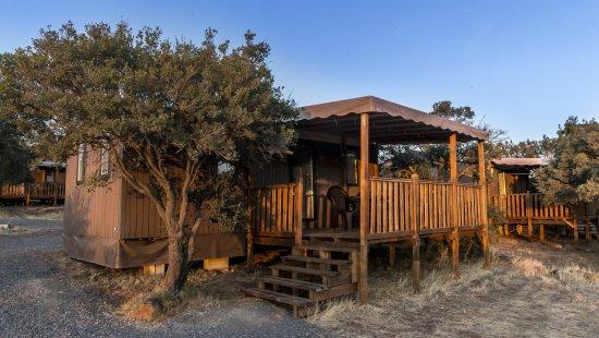 Un bungalow au camping du lac du Salagou (rives de Clermont l'Hérault)
