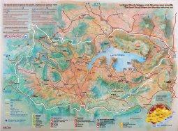 Carte du lac de Salagou