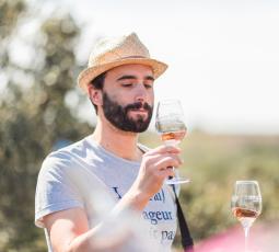 Dégustation de vin dans la garrigue à Saint-de-Fos