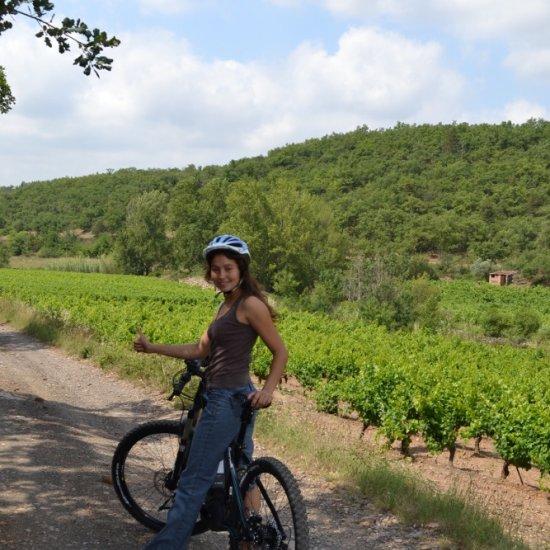 Randonnée VTT dans le vignoble – oenotourisme en Languedoc Cœur d'Hérault