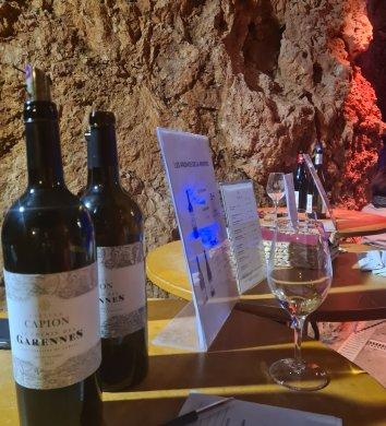 Dégustation de vins à la Grotte de Clamouse