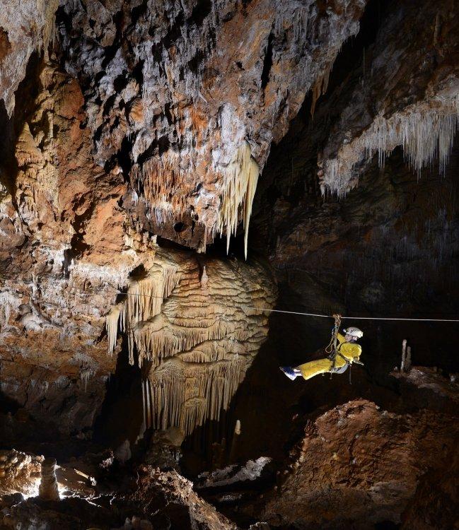 Spéléopark grotte de Clamouse, Languedoc Cœur d'Hérault – buffets d'orgues, stalactites
