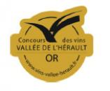 Médaille d'or - Concours des Vins de la Vallée de l'Hérault