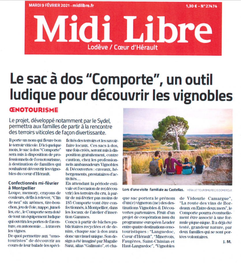 Article Midi Libre 9 février 2021