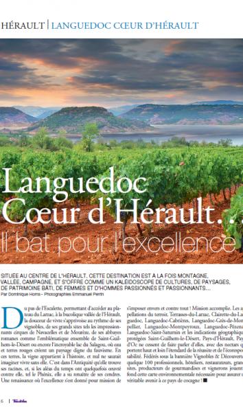 Titre Terre de Vins : Languedoc, Coeur d'Hérault...il bat pour l'excellence !