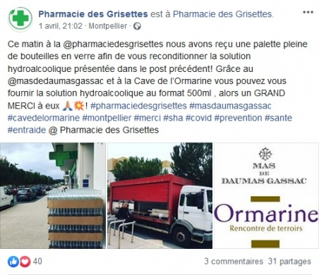 Belle initiative Mas Daumas Gassac