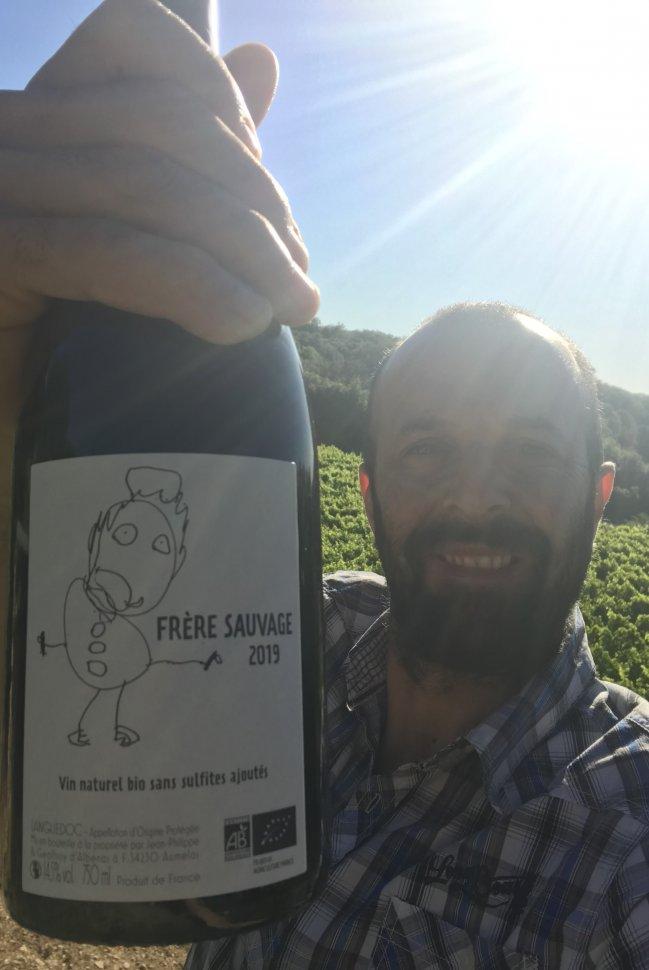 """Geoffroy d'Albenas et la cuvée nature sans sulfite """"Frère Sauvage"""""""