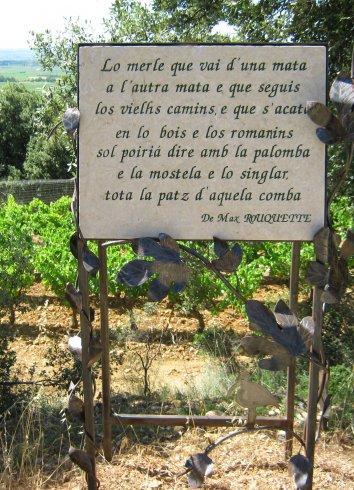 Sentier du vin des Poètes, Saint-Saturnin-de-Lucian, Languedoc Cœur d'Hérault