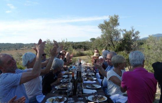 Goût de France en Languedoc, Coeur d'Hérautt : Repas dans la garrigue